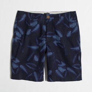 NWT J Crew Linen Cotton Tropical Leaves Shorts